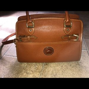 Dooney and Bourke Tan All Weather Leather purse